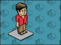 Personaje de Habbo. (Imagen tomada del sitio de internet).