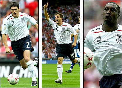Gareth Barry (left) and Emile Heskey (right) shine in September, while Michael Owen fills his boots