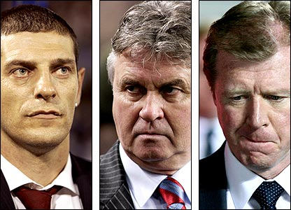 (L-r) Croatia coach Slaven Bilic, Russia boss Guus Hiddink and England manager Steve McClaren