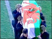 Ray Gravell's coffin