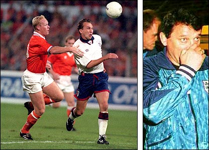 Ronald Koeman brings down David Platt and it's hard for Graham Taylor to take