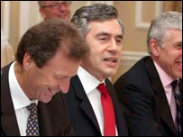 Sir Gus O'Donnell and Gordon Brown