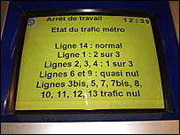 information panel showing line 14 normal. Pic: Richard Tromans