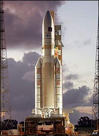 Ariane 5 ECA rocket. Image: AP