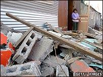 Viviendas destruidas por el terremoto en Tocopilla