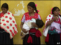 File photo of indigenous women in Chiapas