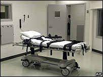 A lethal injection chamber