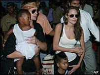 Angelina Jolie, Brad Pitt and their family