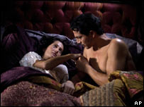 Giovanna Mezzogiorno and Benjamin Bratt in a scene from Love In The Time