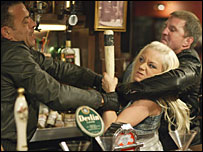 Scene from the EastEnders raid