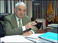 Ministro de Minas y Petr�leo de Ecuador, Galo Chiriboga
