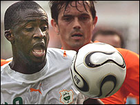 Barcelona and Ivory Coast midfielder, Yaya Toure