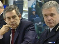 Gordon Brown with Chief Constable Michael Todd