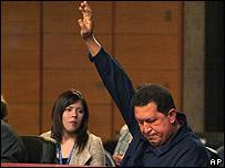 President Hugo Chavez at the summit