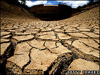 Drought-hit river bed (Getty Images)