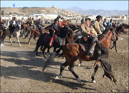 Afghan horsemen in Kabul