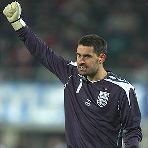 England debutant Scott Carson