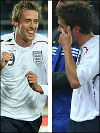 Peter Crouch and Michael Owen