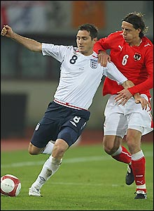 Frank Lampard put in an impressive performance for England in Austria