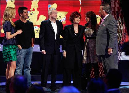 Simon Cowell, Louis Walsh, Sharon Osbourne, Dannii Minogue