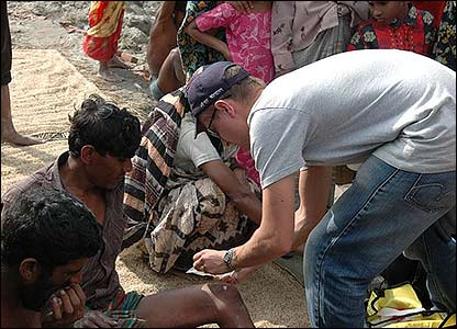 First aid given to Bangladesh storm survivors
