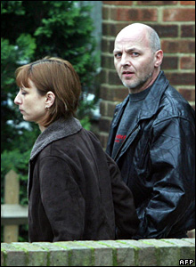 Nicola Downing and her partner Mark Drage
