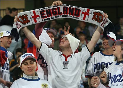 An England fan in Israel