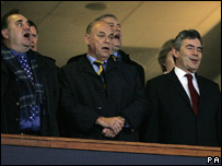 Alex Salmond and Gordon Brown watched the game