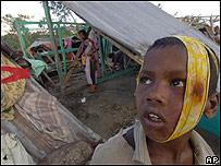 Víctima del ciclón en Bangladesh