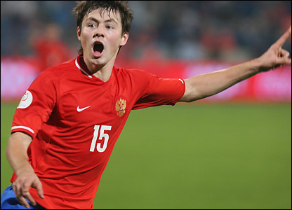 Bilyaletdinov celebrates his equaliser