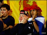 Scotland fans look on in disbelief as Italy win at Hampden
