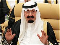 El rey Abdala de Arabia Saudita