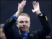 Alex McLeish is in tears as Scotland lose to Italy