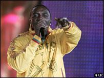 File photo of soul star Akon