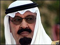 El rey Abdala en Riad el 17 de noviembre