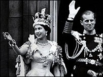 The Queen's coronation in 1953