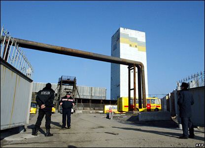 The entrance to the Zasyadko mine, 18 November 2007