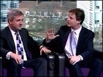 Chris Huhne and Nick Clegg