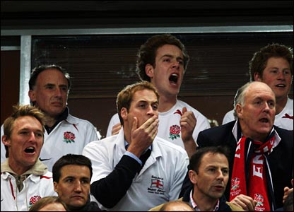 The tension mounts for the England fans in the crowd