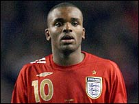 England and Tottenham striker Darren Bent