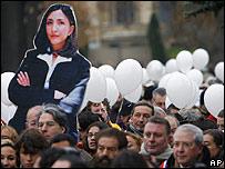 Marcha en París por la libertad de Ingrid Betancourt (18.11.07)