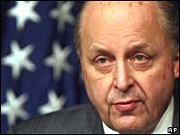 US Deputy Secretary of State John Negroponte at a news conference in Islamabad on Saturday