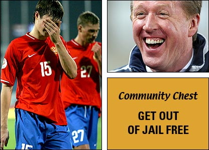 Russia's shock defeat in Israel hands Steve McClaren a get out of jail free card