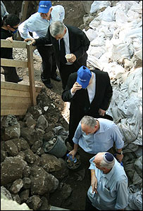 Israeli MKs, led by Uri Ariel, walk through archaeological dig in East Jerusalem