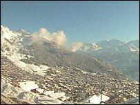 Mountains above the ski resort of Verbier, Switzerland