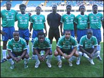 The Sierra Leone national team 