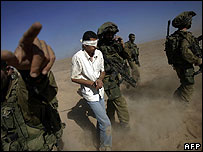 Palestinian prisoner seized by Israel troops