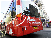 Fuel cell bus (Image: BBC)