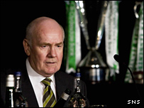 John Reid at Celtic's AGM