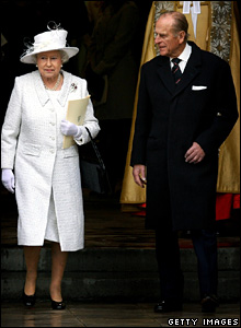 The Queen and Prince Philip leave Westminster Abbey
